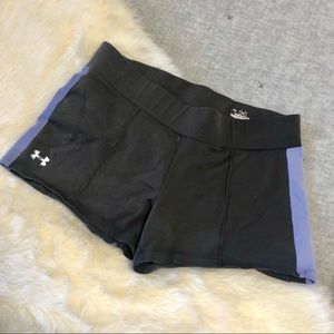 Underarmour heatgear purple & grey shorts sz. S